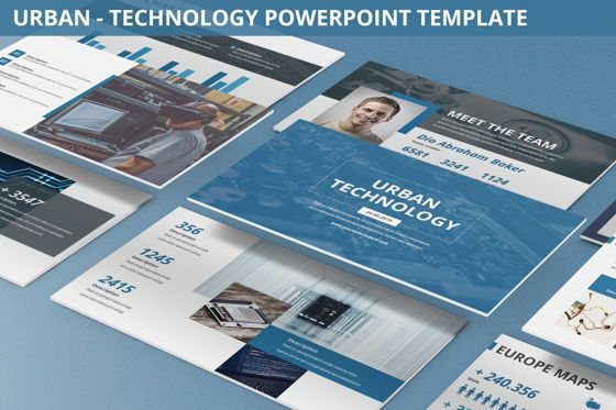 Business Models: Urban - Technology Powerpoint Template #06261