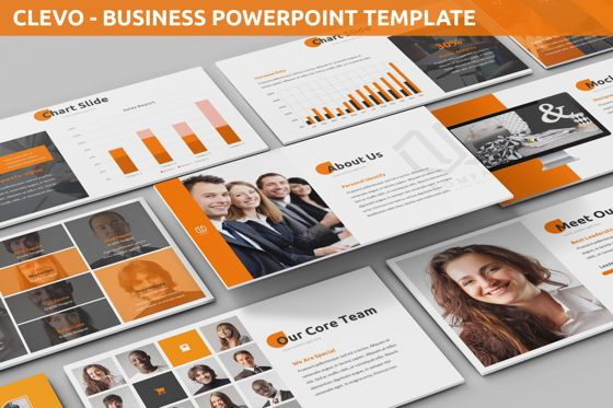 Business Models: Clevo - Business Powerpoint Template #06262