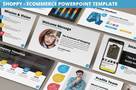 Business Models: Shoppy - Ecommerce Powerpoint Template #06264