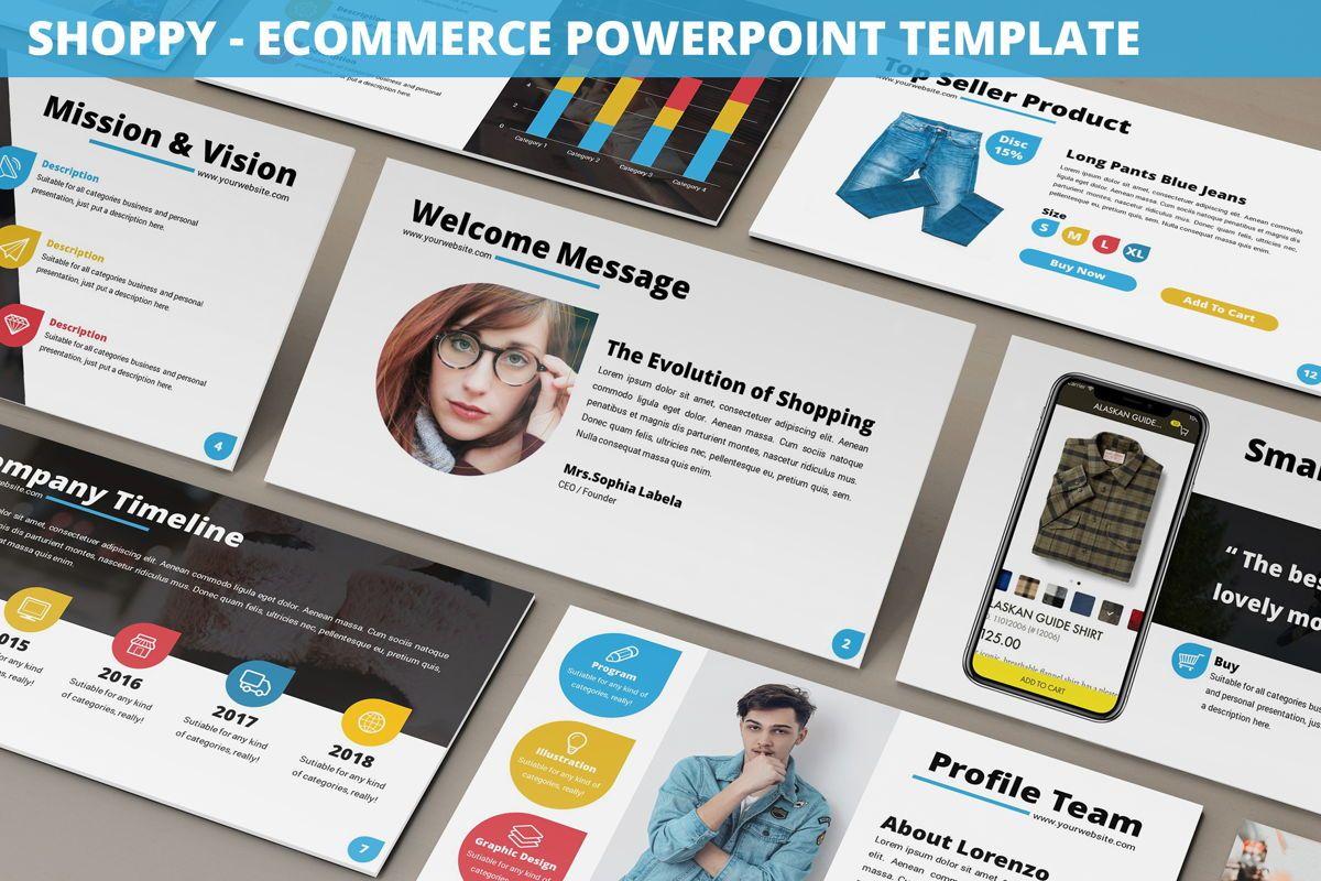 Shoppy - Ecommerce Powerpoint Template, 06264, Business Models — PoweredTemplate.com