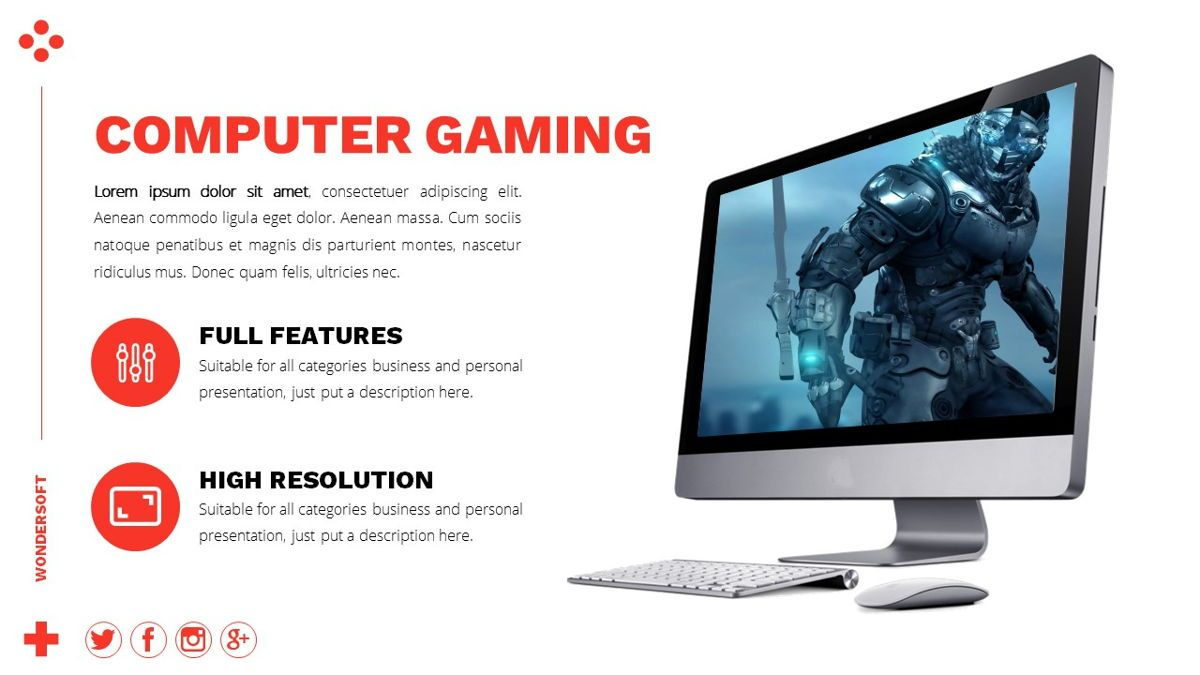 Wondersoft - Gaming Powerpoint Template, Slide 19, 06266, Data Driven Diagrams and Charts — PoweredTemplate.com