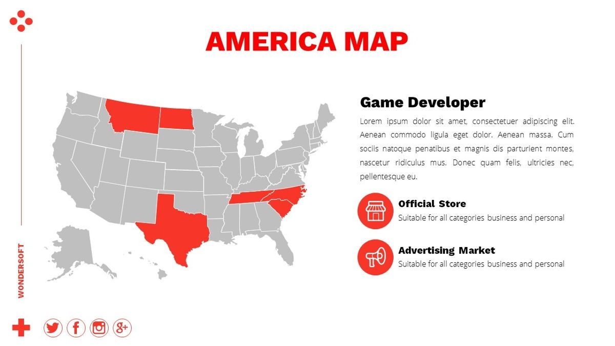 Wondersoft - Gaming Powerpoint Template, Slide 25, 06266, Data Driven Diagrams and Charts — PoweredTemplate.com