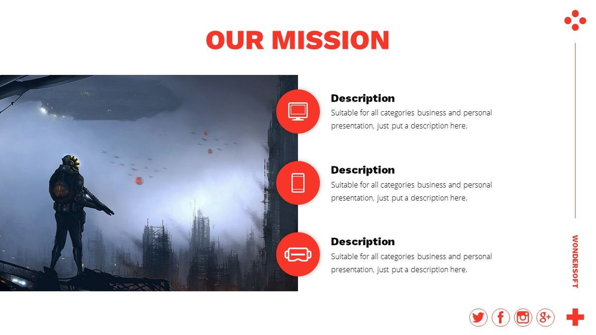 Wondersoft - Gaming Powerpoint Template, Slide 5, 06266, Data Driven Diagrams and Charts — PoweredTemplate.com