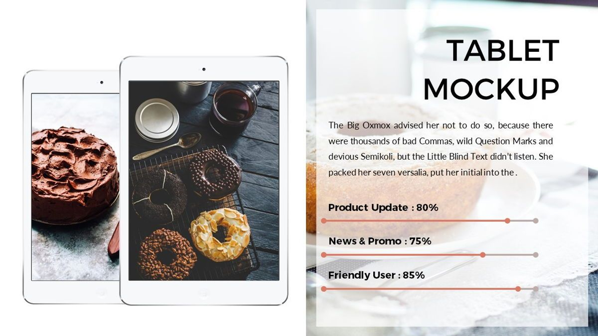 Foodlish - Food Powerpoint Template, Slide 19, 06268, Data Driven Diagrams and Charts — PoweredTemplate.com