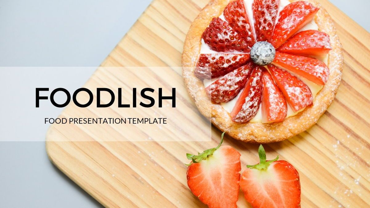 Foodlish - Food Powerpoint Template, Slide 2, 06268, Data Driven Diagrams and Charts — PoweredTemplate.com