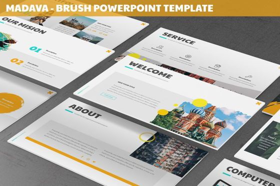 Data Driven Diagrams and Charts: Madava - Brush Powerpoint Template #06269