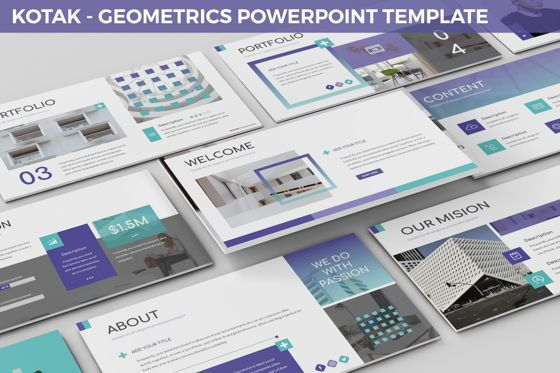 Business Models: Kotak - Geometrics Powerpoint Template #06270