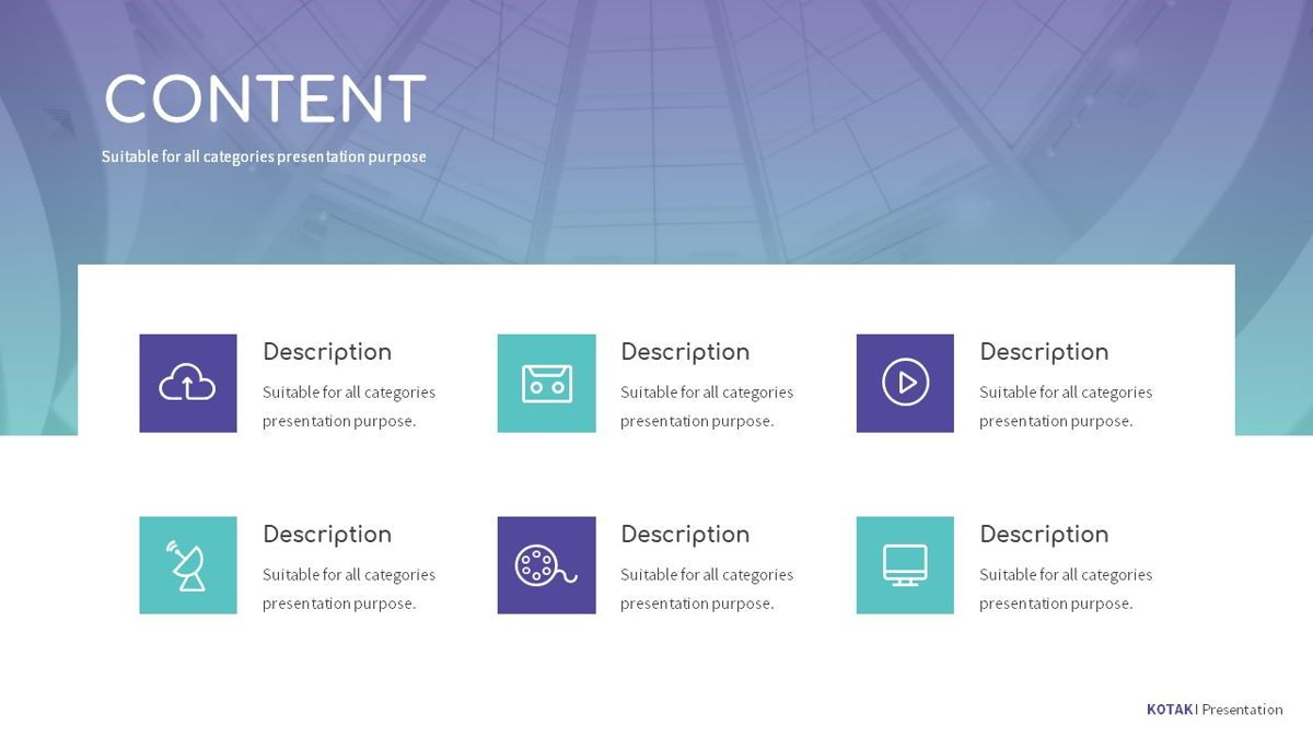 Kotak - Geometrics Powerpoint Template, Slide 4, 06270, Business Models — PoweredTemplate.com