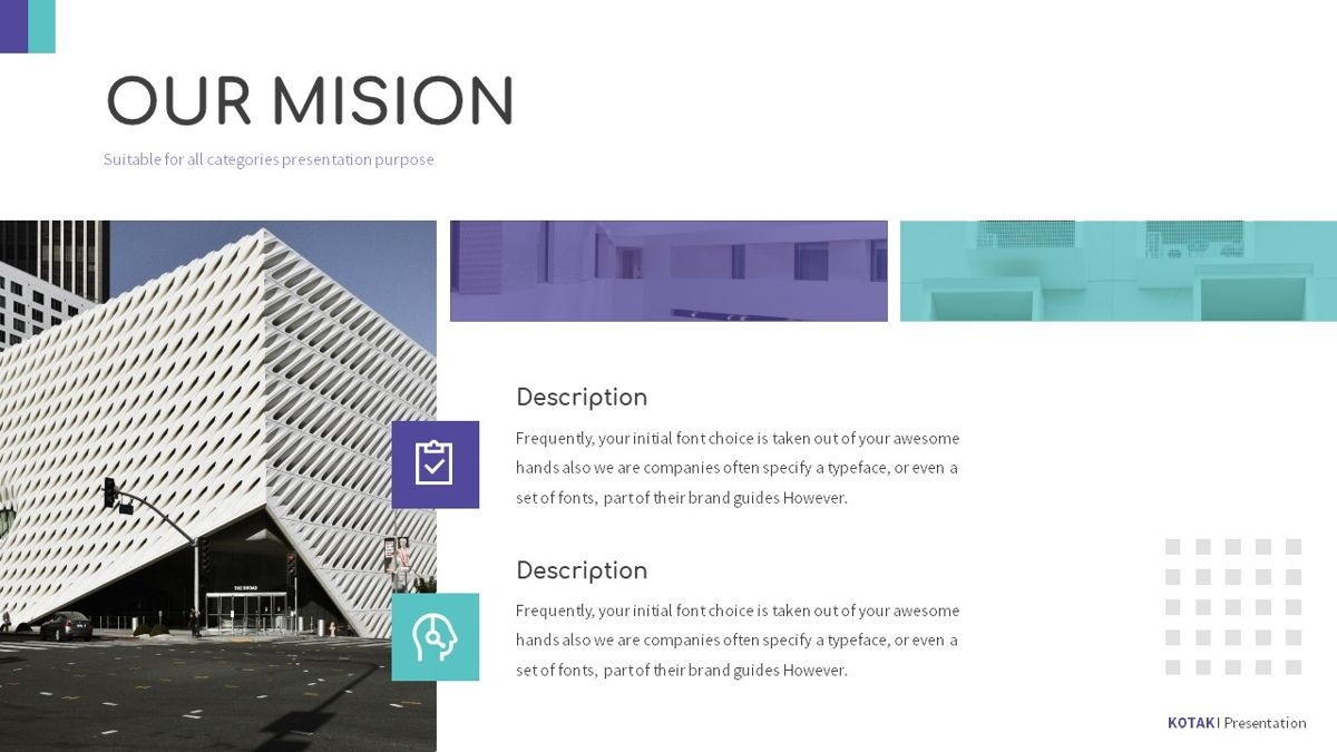Kotak - Geometrics Powerpoint Template, Slide 8, 06270, Business Models — PoweredTemplate.com