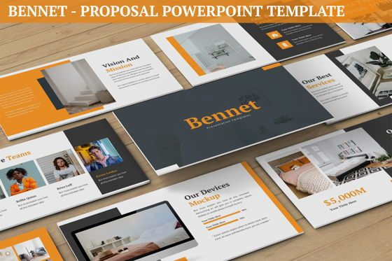 Business Models: Bennet - Proposal Powerpoint Template #06271