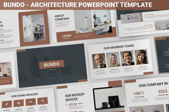 Data Driven Diagrams and Charts: Bundo - Architecture Powerpoint Template #06272