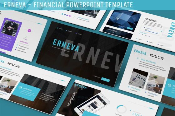 Data Driven Diagrams and Charts: Erneva - Financial Powerpoint Template #06273