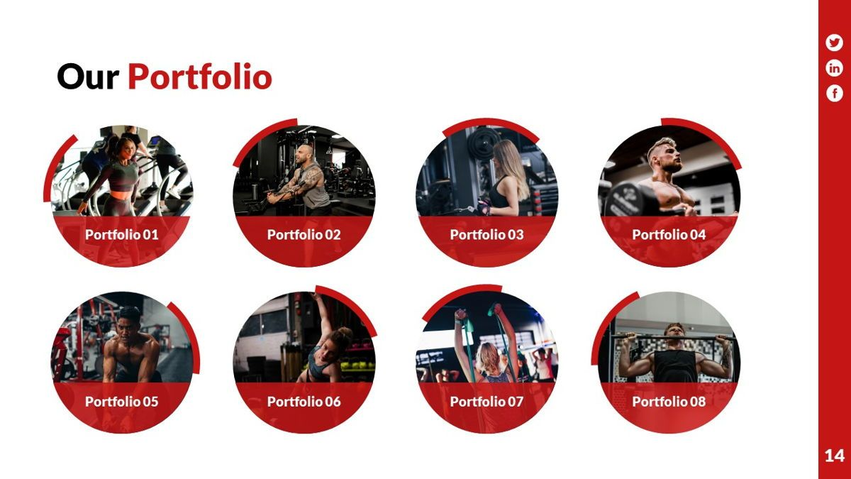 Gymworld - Fitness Powerpoint Template, Slide 15, 06275, Data Driven Diagrams and Charts — PoweredTemplate.com