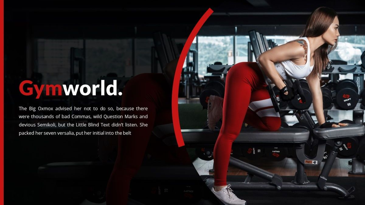 Gymworld - Fitness Powerpoint Template, Slide 2, 06275, Data Driven Diagrams and Charts — PoweredTemplate.com