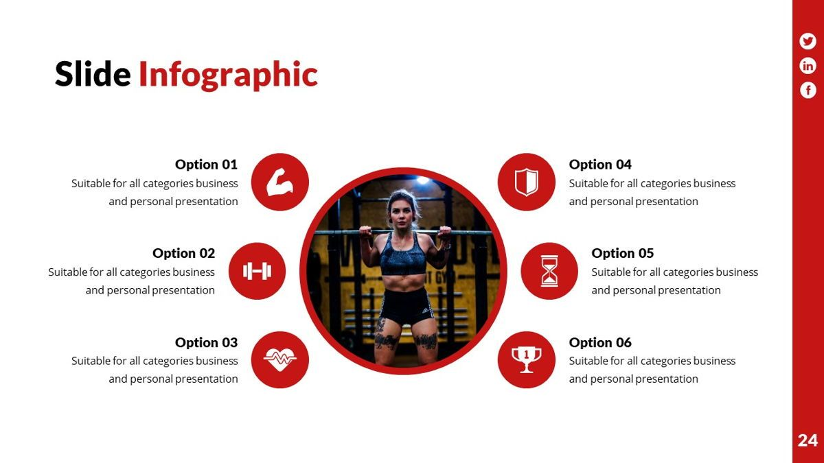 Gymworld - Fitness Powerpoint Template, Slide 25, 06275, Data Driven Diagrams and Charts — PoweredTemplate.com