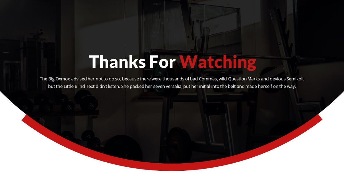 Gymworld - Fitness Powerpoint Template, Slide 31, 06275, Data Driven Diagrams and Charts — PoweredTemplate.com
