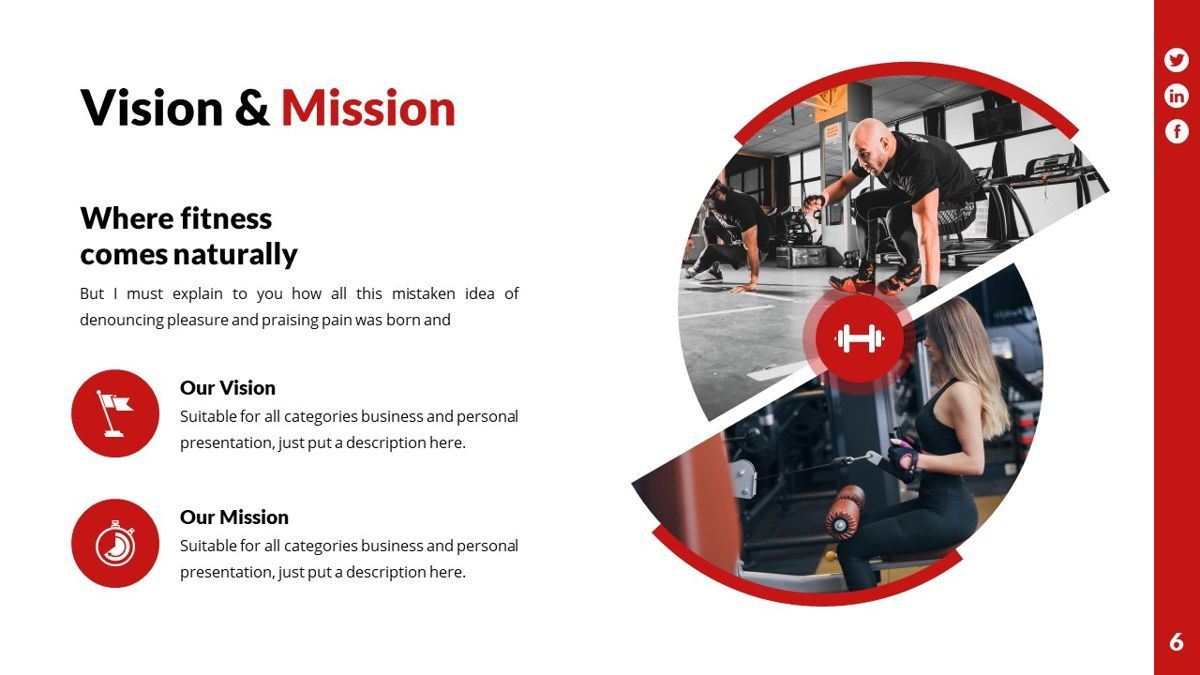 Gymworld - Fitness Powerpoint Template, Slide 7, 06275, Data Driven Diagrams and Charts — PoweredTemplate.com