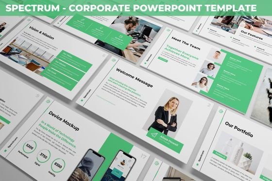 Business Models: Spectrum - Corporate Powerpoint Template #06276