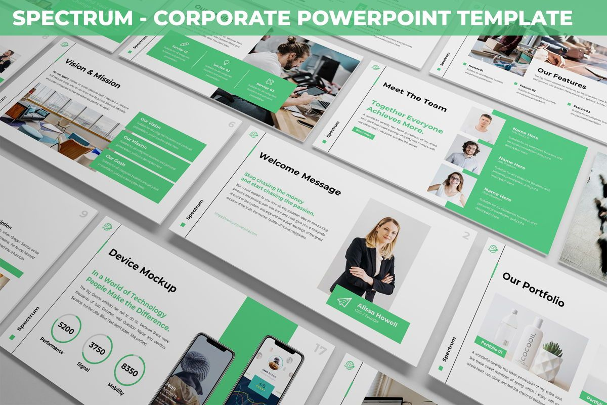Spectrum - Corporate Powerpoint Template, 06276, Business Models — PoweredTemplate.com