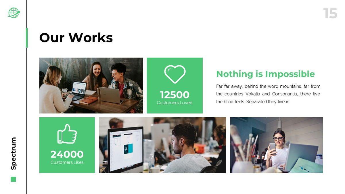 Spectrum - Corporate Powerpoint Template, Slide 16, 06276, Business Models — PoweredTemplate.com
