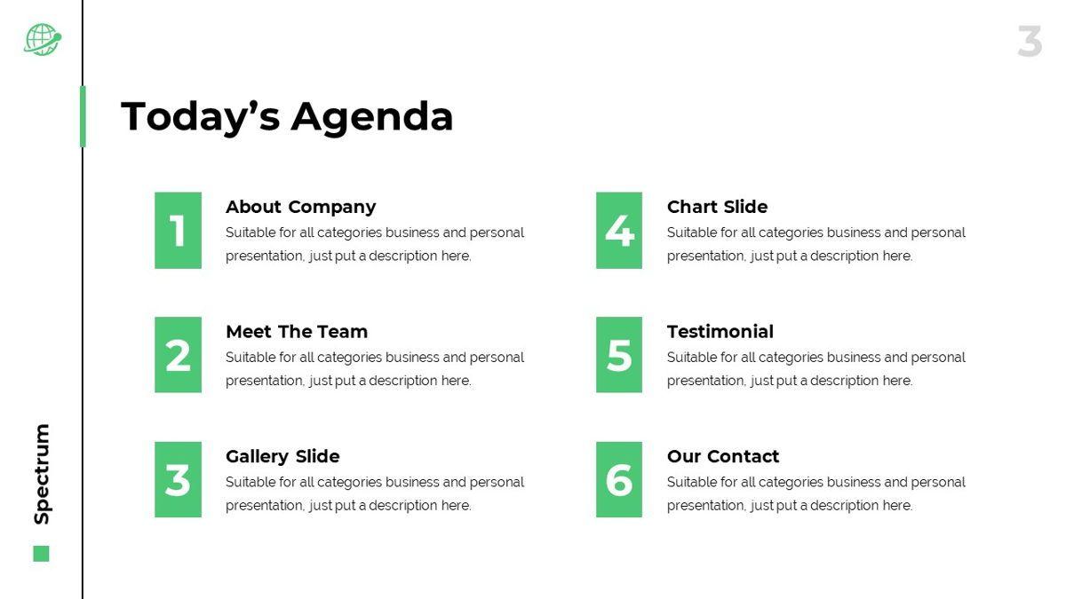 Spectrum - Corporate Powerpoint Template, Slide 4, 06276, Business Models — PoweredTemplate.com