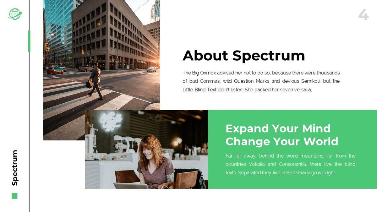 Spectrum - Corporate Powerpoint Template, Slide 5, 06276, Business Models — PoweredTemplate.com