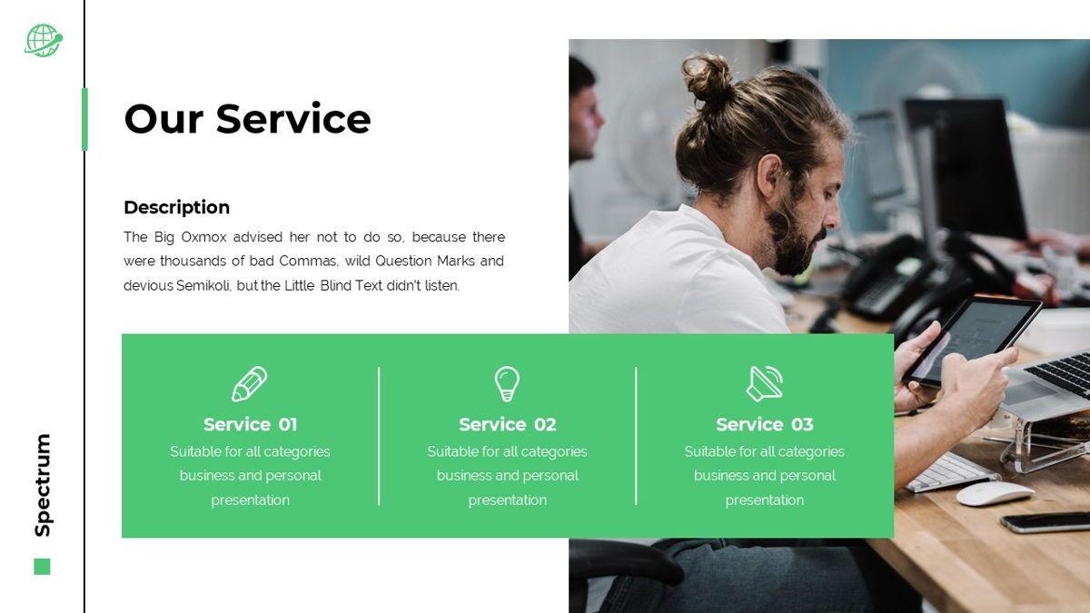 Spectrum - Corporate Powerpoint Template, Slide 6, 06276, Business Models — PoweredTemplate.com