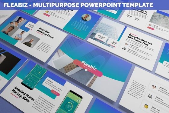 Data Driven Diagrams and Charts: Fleabiz - Multipurpose Powerpoint Template #06277