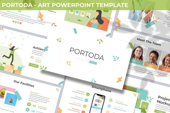 Business Models: Portoda - Art Powerpoint Template #06279
