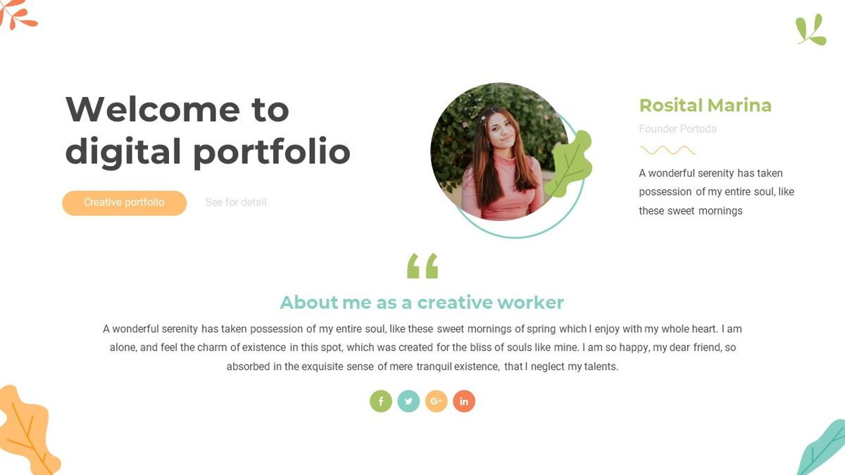 Portoda - Art Powerpoint Template, Folie 3, 06279, Business Modelle — PoweredTemplate.com