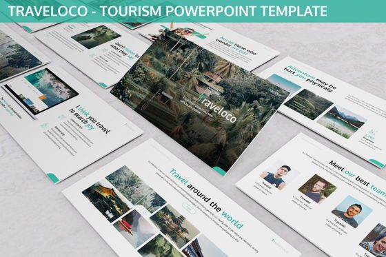 Business Models: Traveloco - Tourism Powerpoint Template #06280