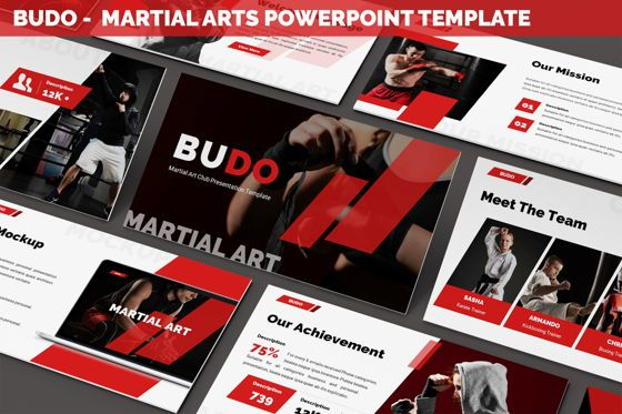 Business Models: Budo - Martial Arts Powerpoint Template #06283