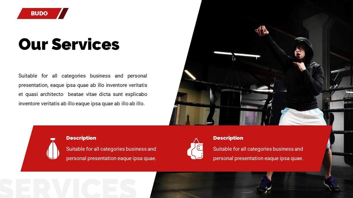Budo - Martial Arts Powerpoint Template, Slide 11, 06283, Business Models — PoweredTemplate.com