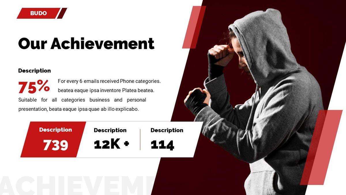 Budo - Martial Arts Powerpoint Template, Slide 12, 06283, Business Models — PoweredTemplate.com