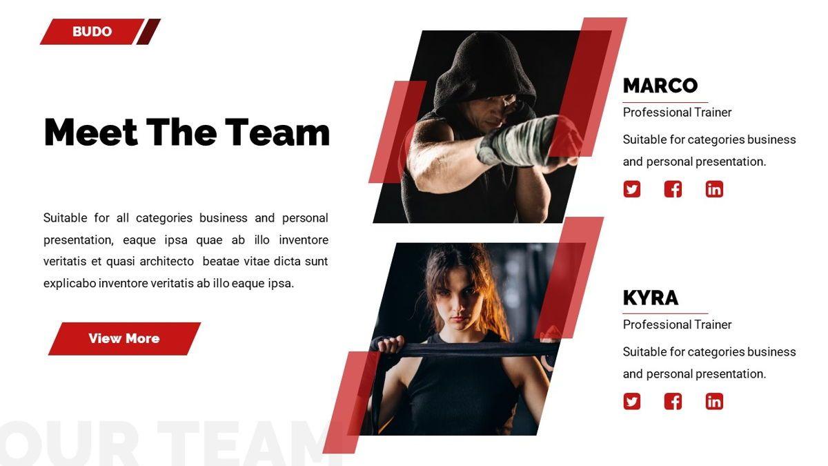 Budo - Martial Arts Powerpoint Template, Slide 15, 06283, Business Models — PoweredTemplate.com