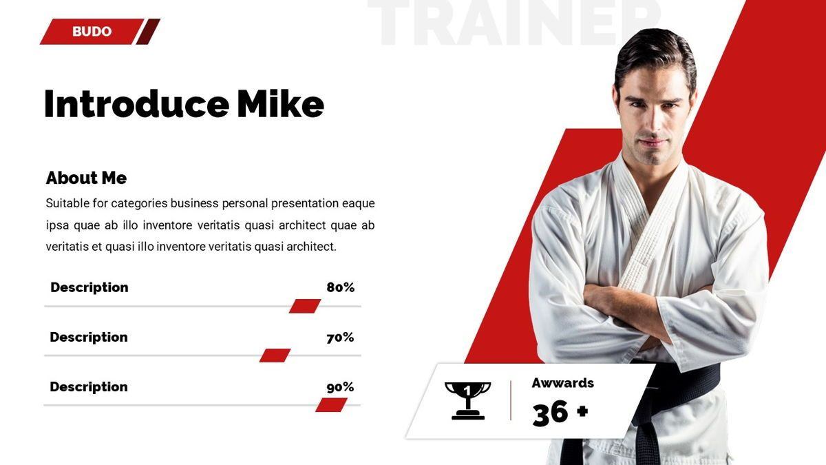 Budo - Martial Arts Powerpoint Template, Slide 16, 06283, Business Models — PoweredTemplate.com