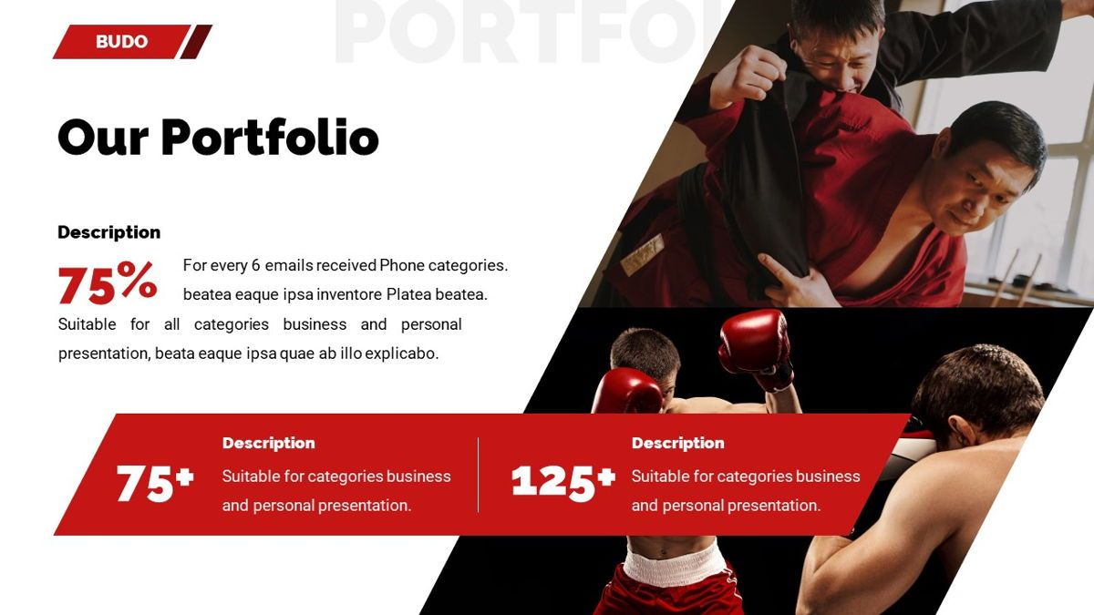 Budo - Martial Arts Powerpoint Template, Slide 18, 06283, Business Models — PoweredTemplate.com