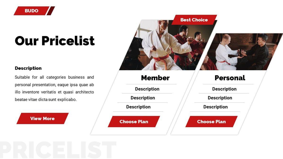 Budo - Martial Arts Powerpoint Template, Slide 28, 06283, Business Models — PoweredTemplate.com