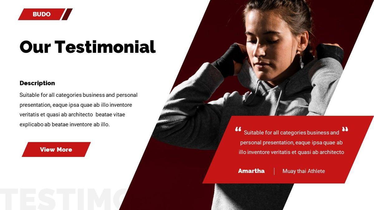 Budo - Martial Arts Powerpoint Template, Slide 29, 06283, Business Models — PoweredTemplate.com