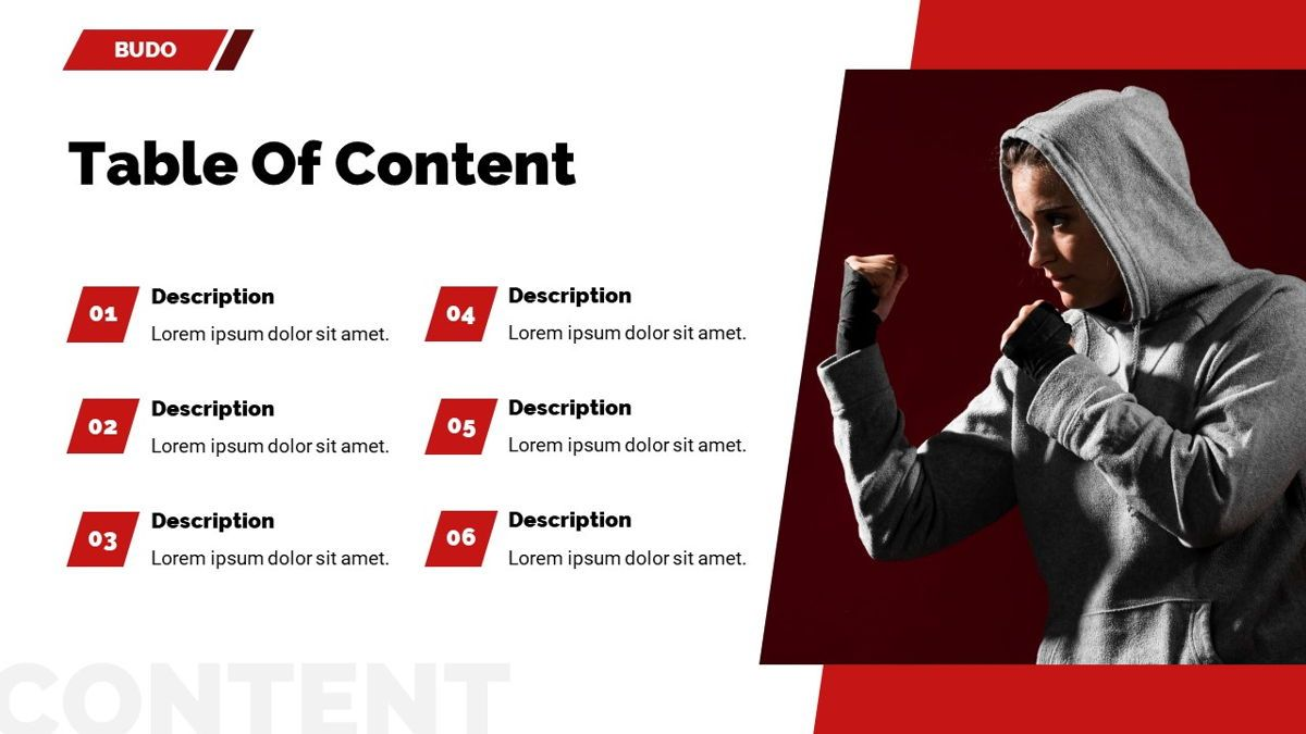 Budo - Martial Arts Powerpoint Template, Slide 4, 06283, Business Models — PoweredTemplate.com