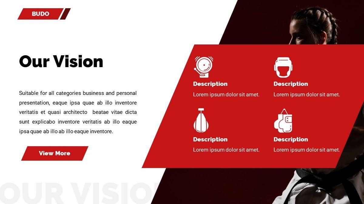 Budo - Martial Arts Powerpoint Template, Slide 7, 06283, Business Models — PoweredTemplate.com
