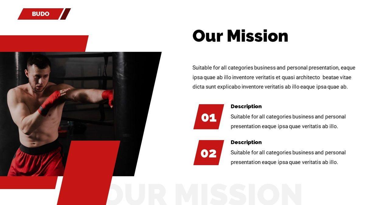 Budo - Martial Arts Powerpoint Template, Slide 8, 06283, Business Models — PoweredTemplate.com