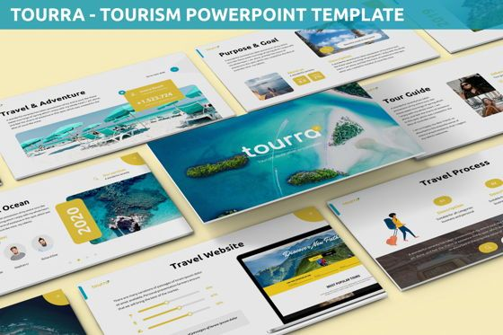 Data Driven Diagrams and Charts: Tourra - Tourism Powerpoint Template #06284
