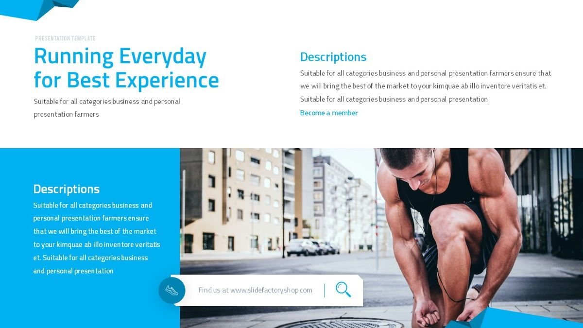 Fitrus - Sporty Powerpoint Template, Slide 15, 06285, Data Driven Diagrams and Charts — PoweredTemplate.com