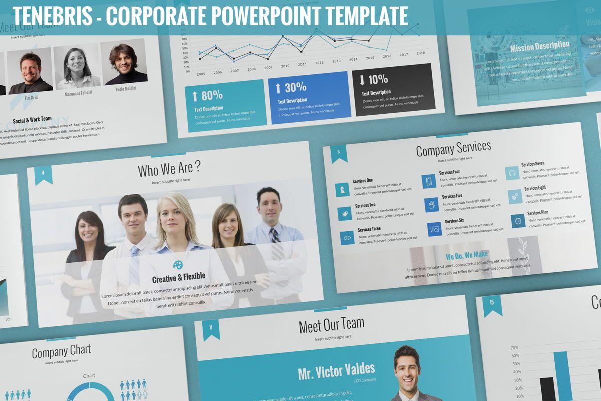 Tenebris - Corporate Powerpoint Template, 06287, Business Models — PoweredTemplate.com