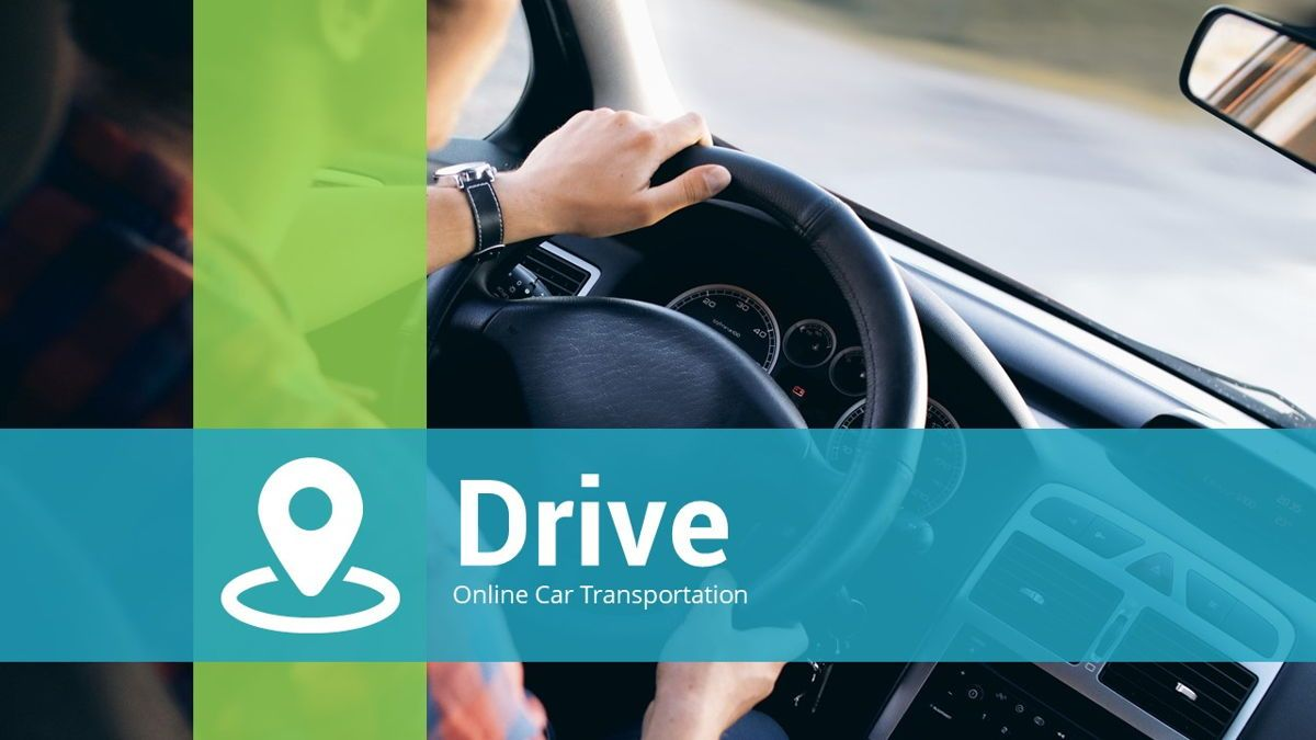 Drive - Transportation Powerpoint Template, Slide 2, 06288, Data Driven Diagrams and Charts — PoweredTemplate.com