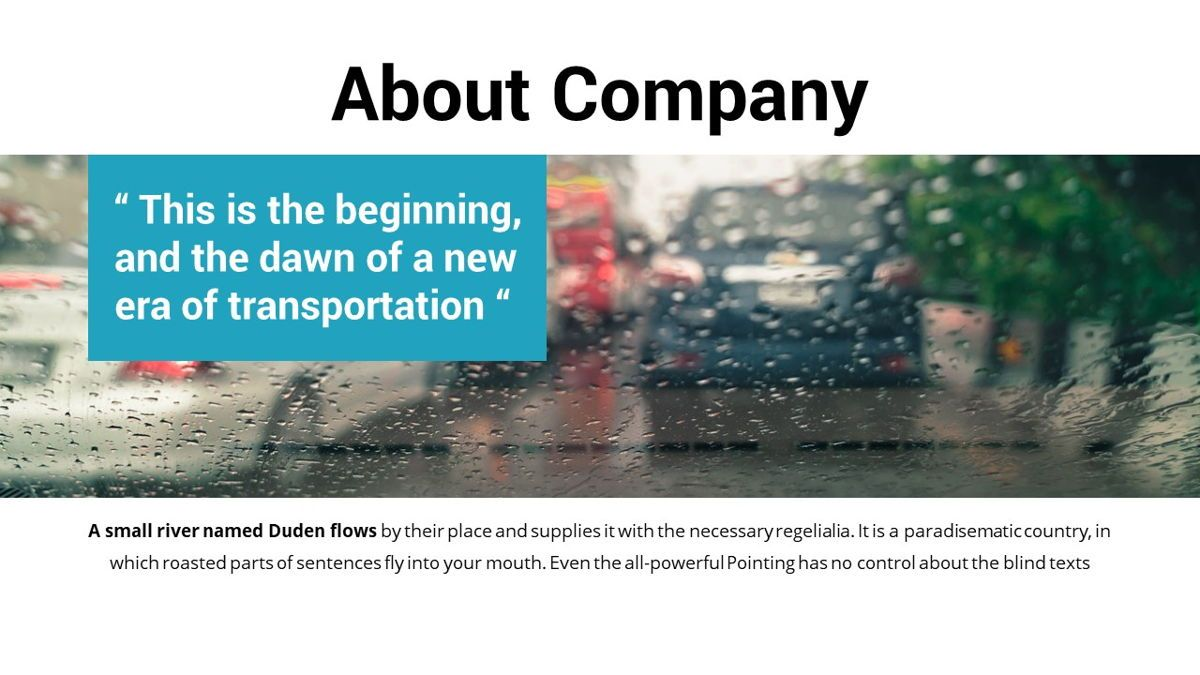 Drive - Transportation Powerpoint Template, Slide 4, 06288, Data Driven Diagrams and Charts — PoweredTemplate.com