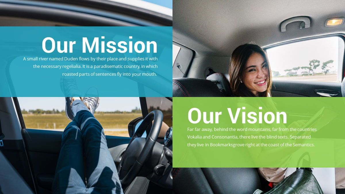 Drive - Transportation Powerpoint Template, Slide 5, 06288, Data Driven Diagrams and Charts — PoweredTemplate.com