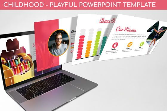Data Driven Diagrams and Charts: Childhood - Playful Powerpoint Template #06289