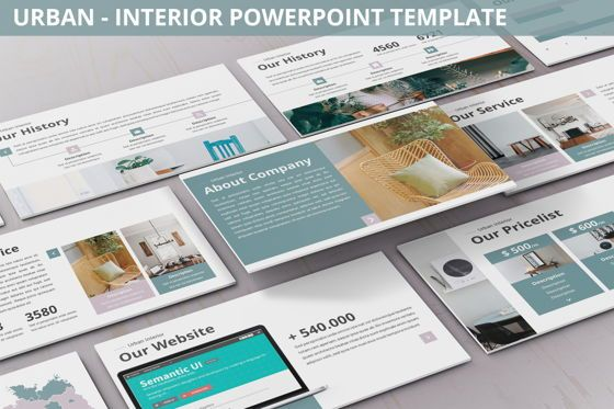 Business Models: Urban - Interior Powerpoint Template #06290